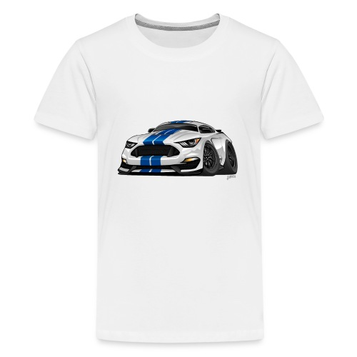 Modern American Muscle Car Cartoon - Kids' Premium T-Shirt