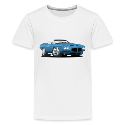 American Classic Seventies Convertible Car Cartoon - Kids' Premium T-Shirt