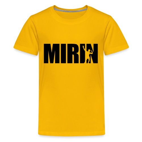 Zyzz Mirin Pose text - Kids' Premium T-Shirt