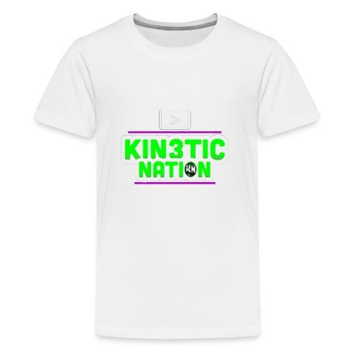 Green Kin3ticNation logo - Kids' Premium T-Shirt