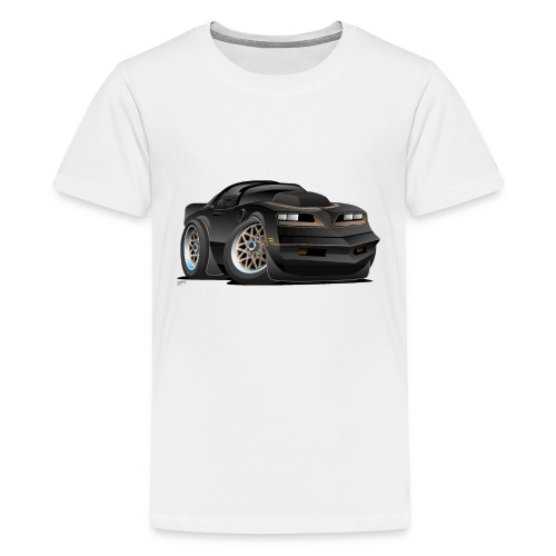 Seventies Classic Muscle Car Cartoon - Kids' Premium T-Shirt