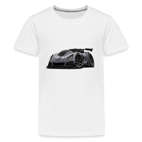 Modern American Sports Car Cartoon - Kids' Premium T-Shirt