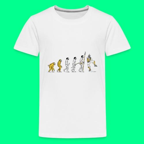 the L in Evolution - Kids' Premium T-Shirt