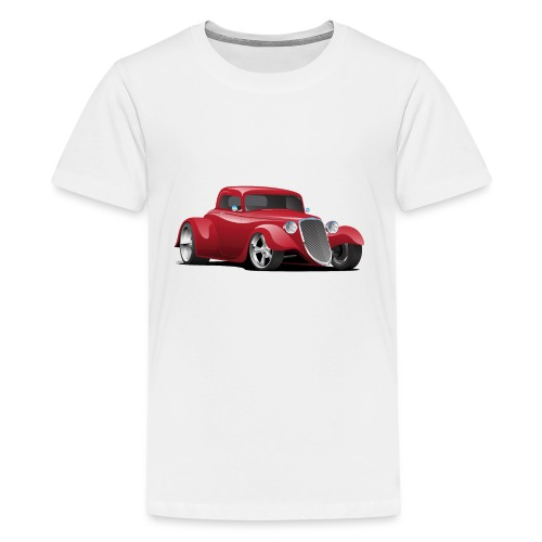 Custom American Red Hot Rod Car - Kids' Premium T-Shirt