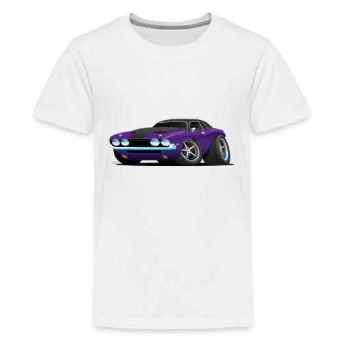 Classic Muscle Car Cartoon - Kids' Premium T-Shirt
