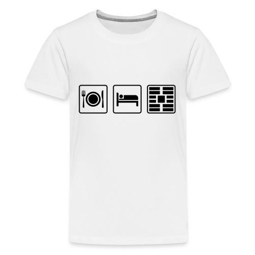 Eat Sleep Urb big fork - Kids' Premium T-Shirt
