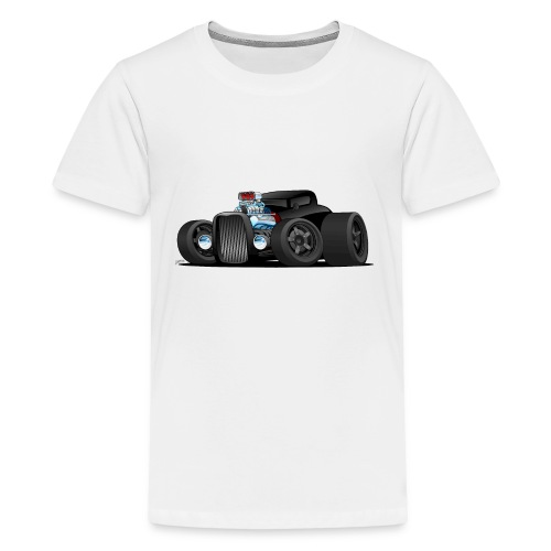 Custom Black Hot Rod Coupe - Kids' Premium T-Shirt