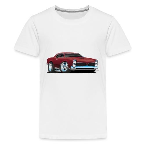 Classic American Muscle Car Cartoon - Kids' Premium T-Shirt