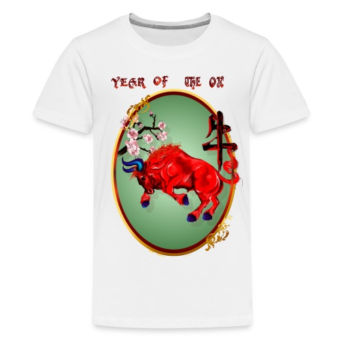 The Red Ox Oval - Kids' Premium T-Shirt