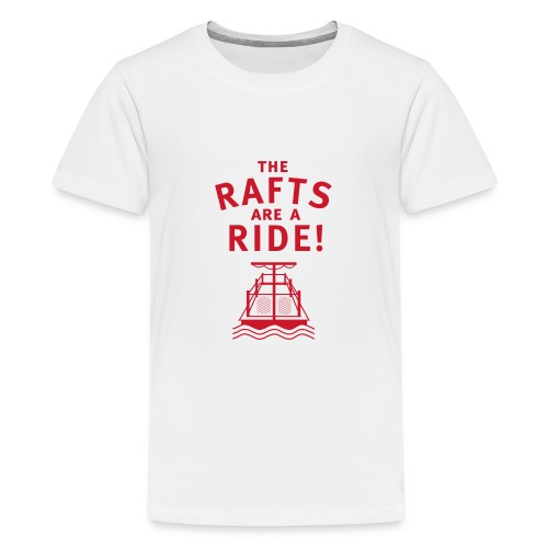 Traveling With The Mouse: Rafts Are A Ride (RED) - Kids' Premium T-Shirt