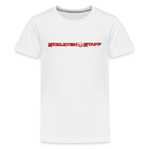 SKELETON STAFF WHITE SHIRT - Kids' Premium T-Shirt