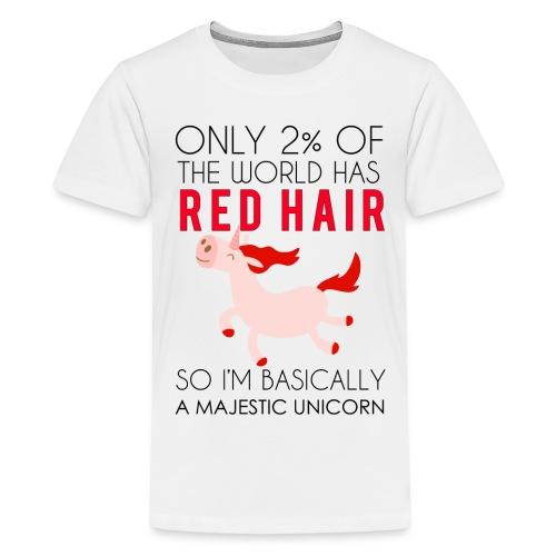 redhead unicorn shirt - Kids' Premium T-Shirt