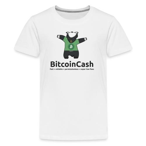 Bitcoin Cash max badger Green - Kids' Premium T-Shirt
