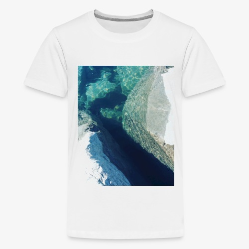 Rock underwater in New Zealand - Kids' Premium T-Shirt
