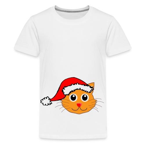 Santa Paws Cat - Kids' Premium T-Shirt