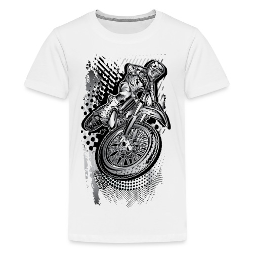 MX Dirt Bike Grunge - Kids' Premium T-Shirt