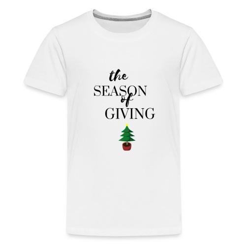 The Season of Giving (Christmas Design) - Kids' Premium T-Shirt