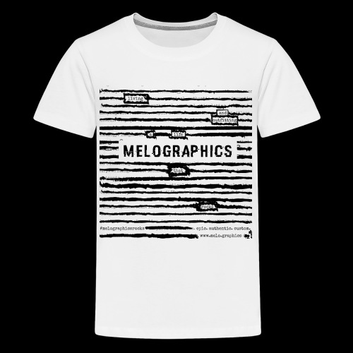 MELOGRAPHICS | Blackout Poem - Kids' Premium T-Shirt