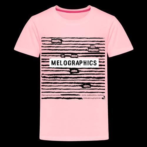 MELOGRAPHICS   Blackout Poem - Kids' Premium T-Shirt