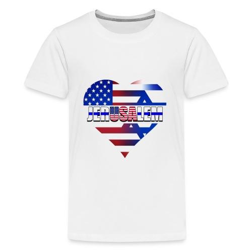USA IN THE HEART OF JERUSALEM (CAPITAL OF ISRAEL) - Kids' Premium T-Shirt
