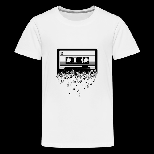 Music Notes Cassette Tape - Kids' Premium T-Shirt