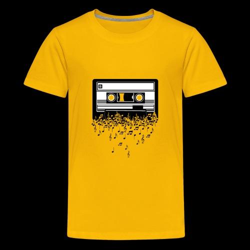 Music Notes Cassette Tape - Kids' Premium T-Shirt