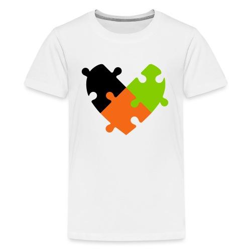 Heart Puzzle - Kids' Premium T-Shirt
