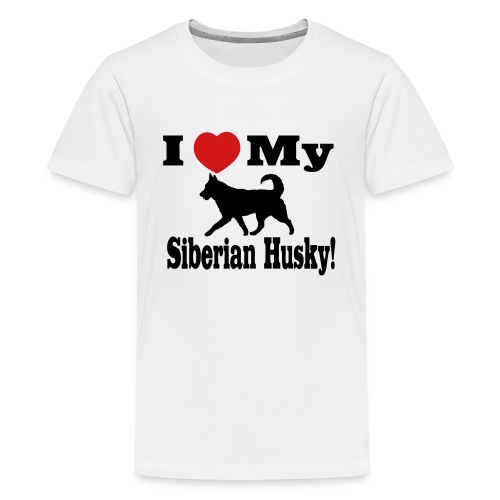 I Love my Siberian Husky - Kids' Premium T-Shirt