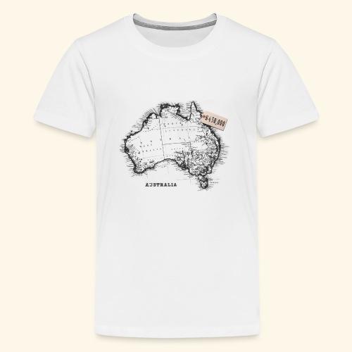 Australian Map - Kids' Premium T-Shirt