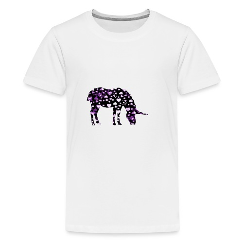 Unicorn Hearts purple - Kids' Premium T-Shirt