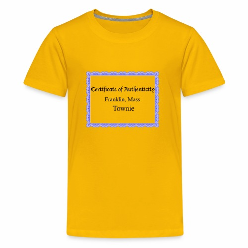 Franklin Mass townie certificate of authenticity - Kids' Premium T-Shirt