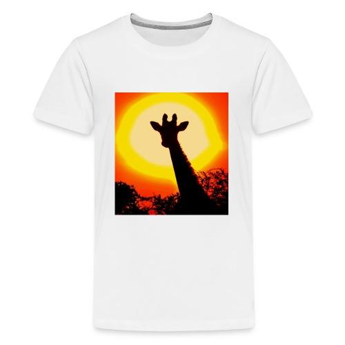 sunset giraffe - Kids' Premium T-Shirt