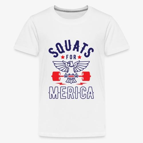 Squats For Merica v2 - Kids' Premium T-Shirt