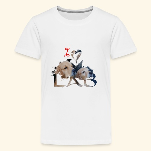 I love Lab - Kids' Premium T-Shirt