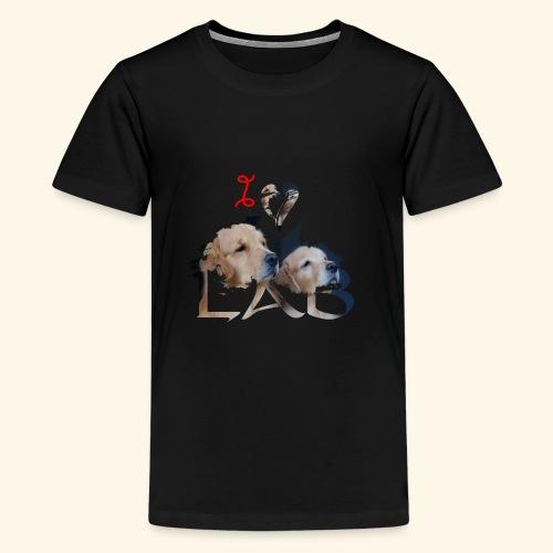 I love Lab - Kids' Premium T-Shirt
