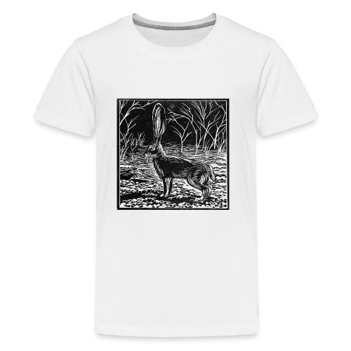Jackrabbit Linocut - Kids' Premium T-Shirt