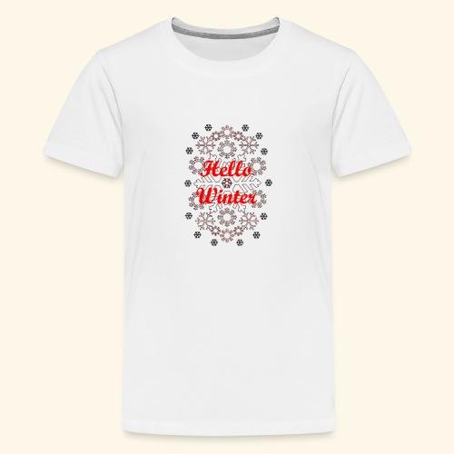 Hello Winter - Kids' Premium T-Shirt