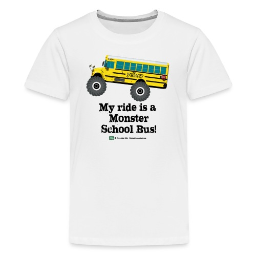 Monster Schoolbus Spreadshirt 3 png - Kids' Premium T-Shirt