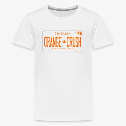 ONTARIO NDP ORANGE CRUSH LICENCE PLATE - Kids' Premium T-Shirt