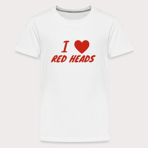 I HEART RED HEADS - Kids' Premium T-Shirt