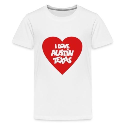 I love Austin Texas Heart - Kids' Premium T-Shirt