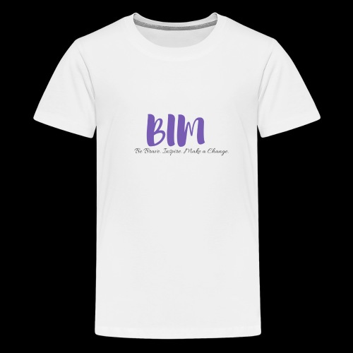 BIM White/Purple - Kids' Premium T-Shirt