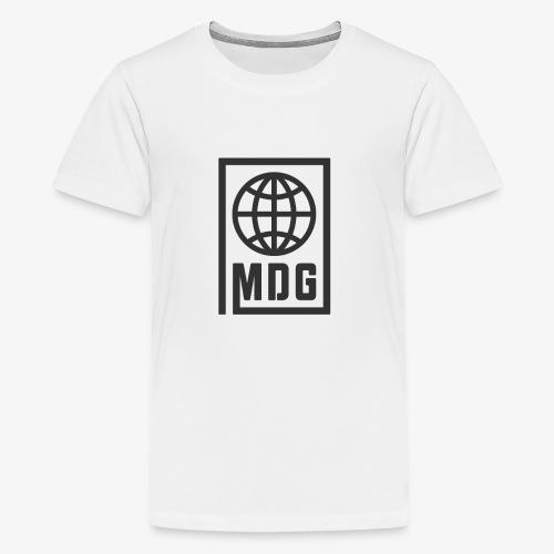 MDG Globe Concept - Black - Kids' Premium T-Shirt