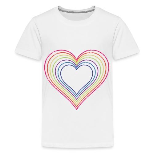 Heart rainbow - Kids' Premium T-Shirt