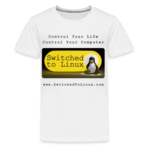 Switched to Linux Logo with Black Text - Kids' Premium T-Shirt