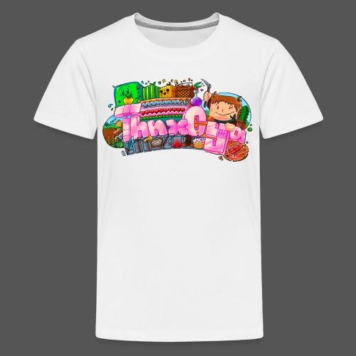 ThnxCya tshirt generic design 03 by Jonas Nacef pn - Kids' Premium T-Shirt