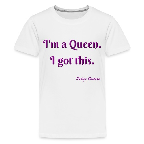 I M A QUEEN PURPLE - Kids' Premium T-Shirt