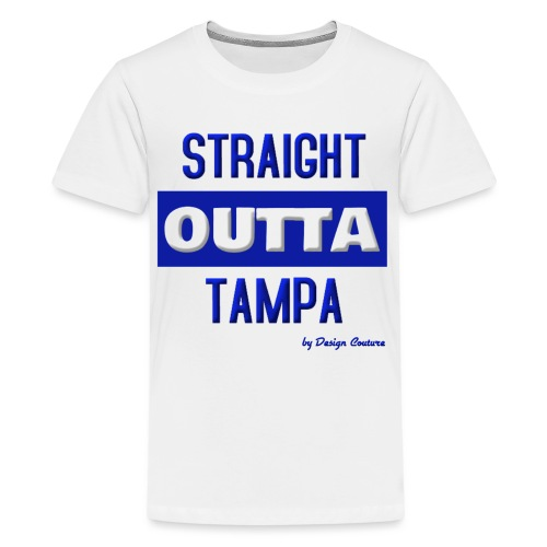 STRAIGHT OUTTA TAMPA BLUE - Kids' Premium T-Shirt