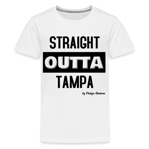 STRAIGHT OUTTA TAMPA BLACK - Kids' Premium T-Shirt