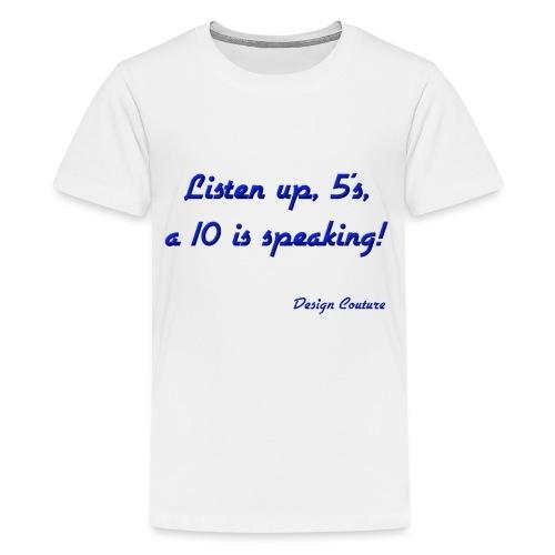 LISTEN UP 5 S BLUE - Kids' Premium T-Shirt